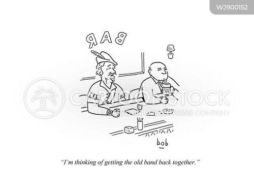 reuniting cartoon