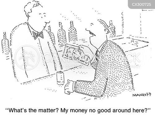 dollar bill cartoon