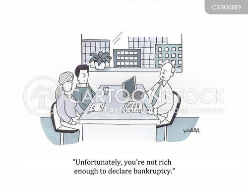 financial troubles cartoon
