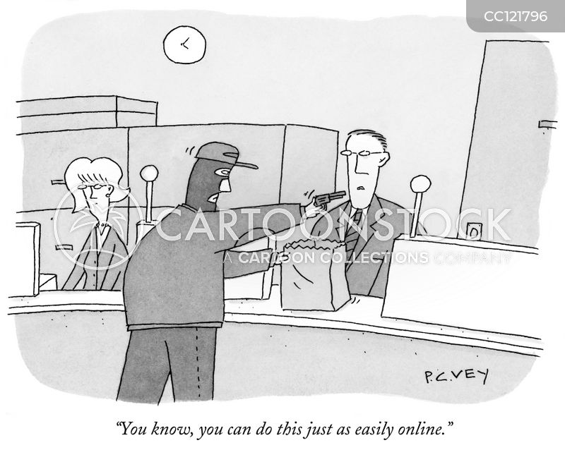 Robbery cartoon
