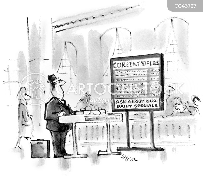 bank clerk cartoon