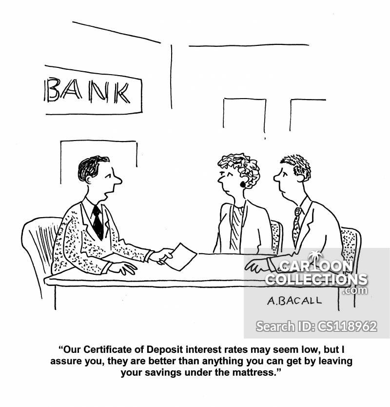 Certificate Of Deposit Interest Cartoons