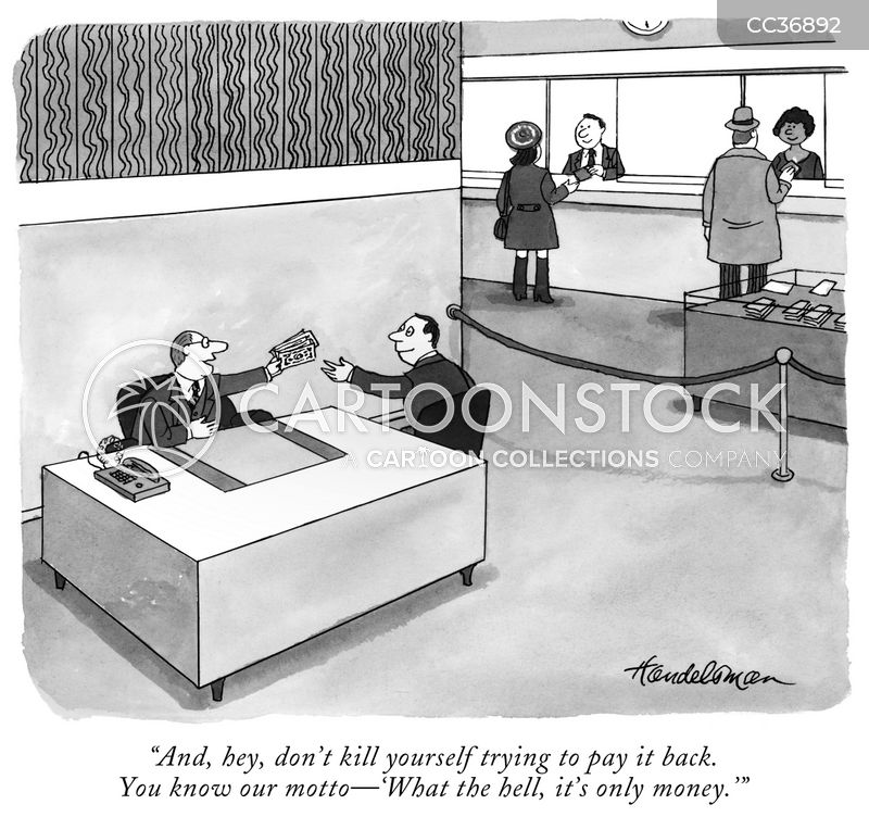 financial institution cartoon