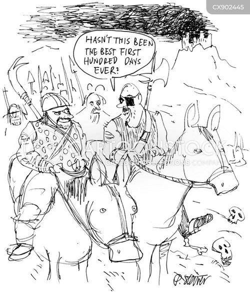 hundred days cartoon