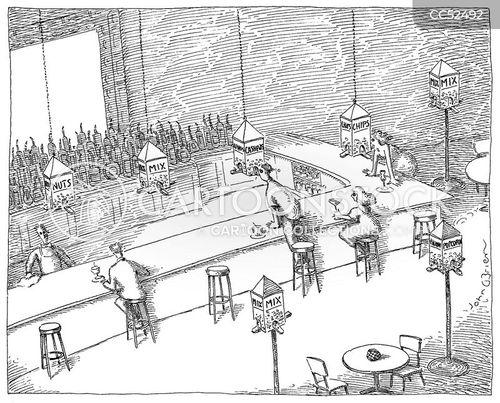 cocktails cartoon