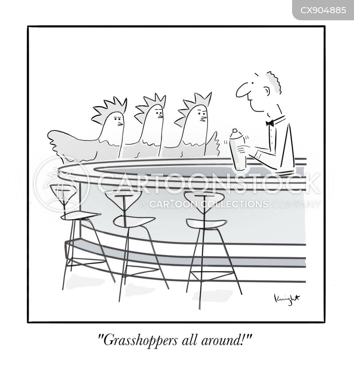 cocktail bar cartoon