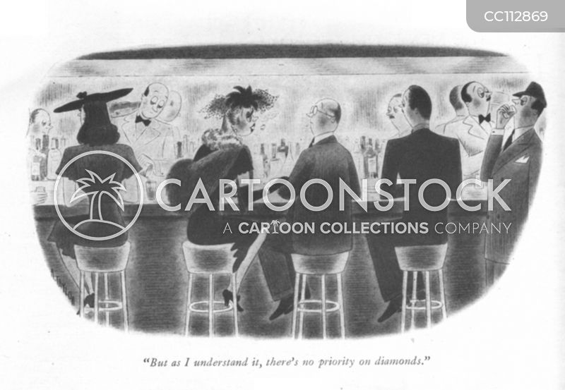 1940s high society cartoon