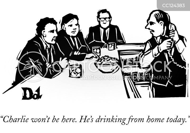 drinks after work cartoon