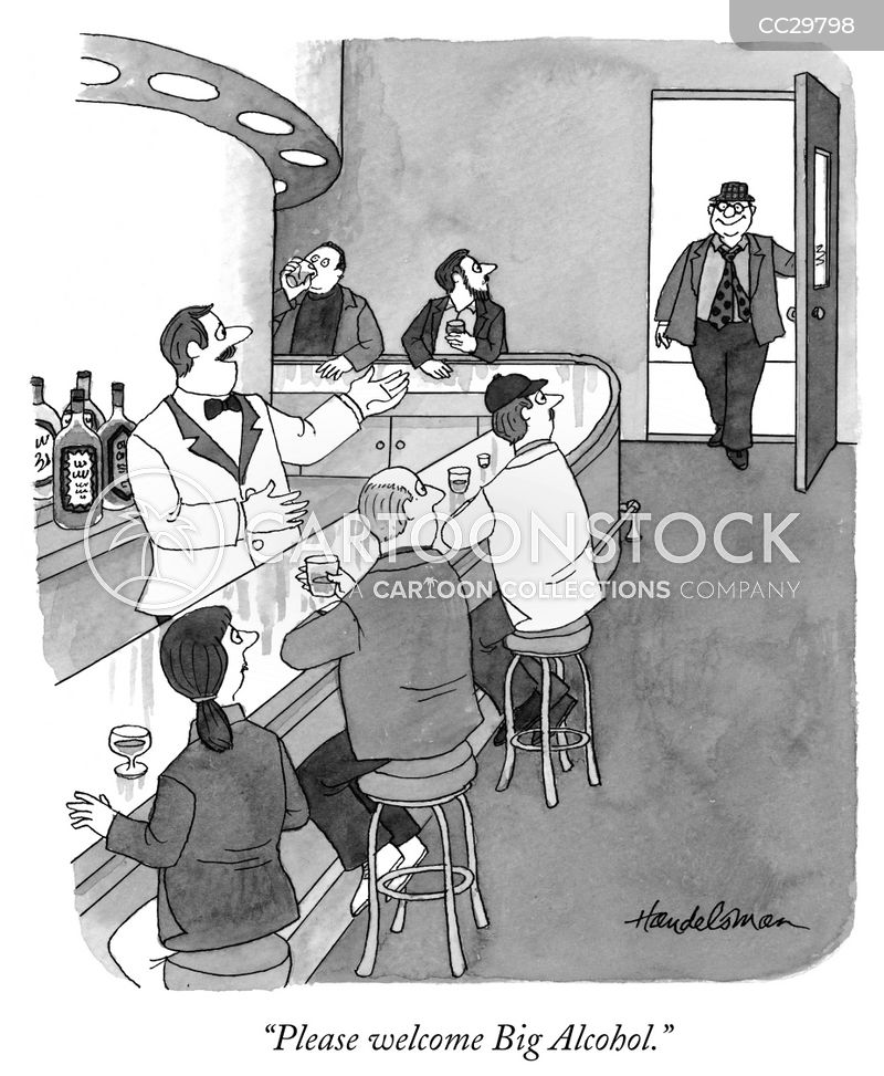 drinks industry cartoon