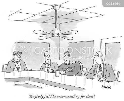 arm wrestle cartoon