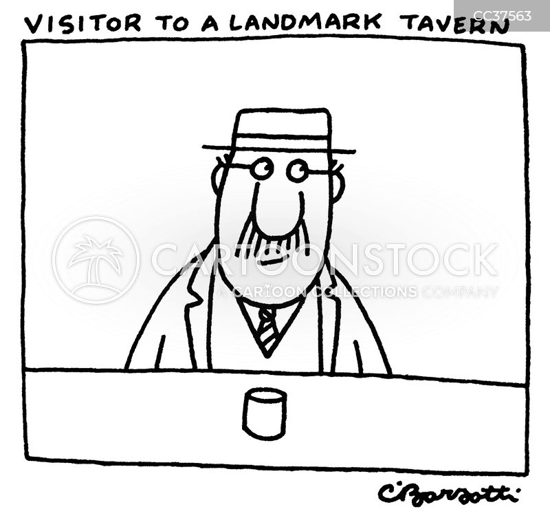 Visitor cartoon
