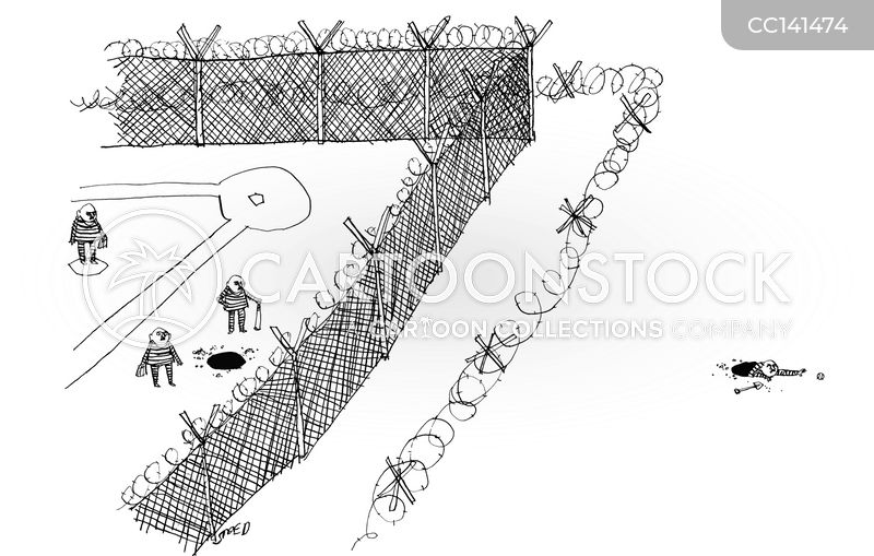 prison yards cartoon