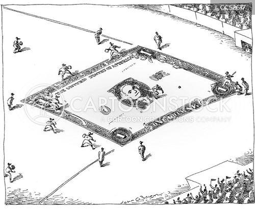 sports lovers cartoon