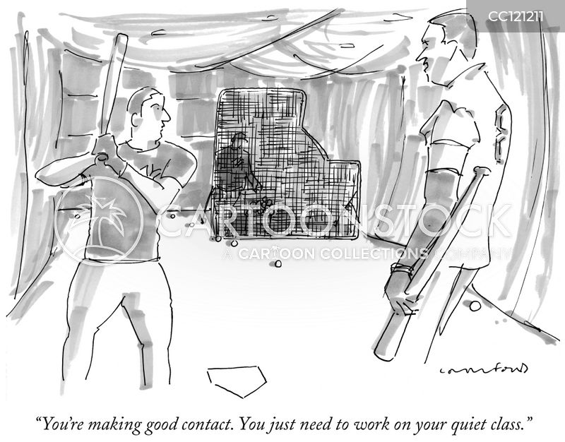 batting practice cartoon