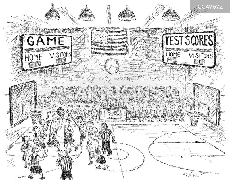 basketball match cartoon