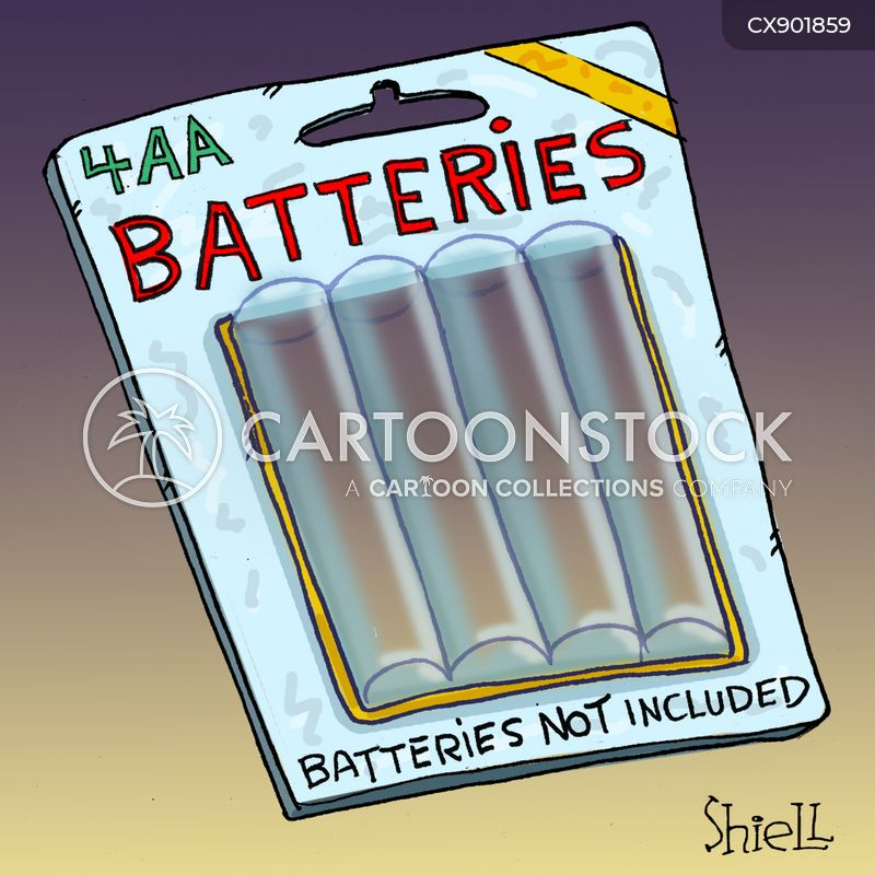 batteries cartoon