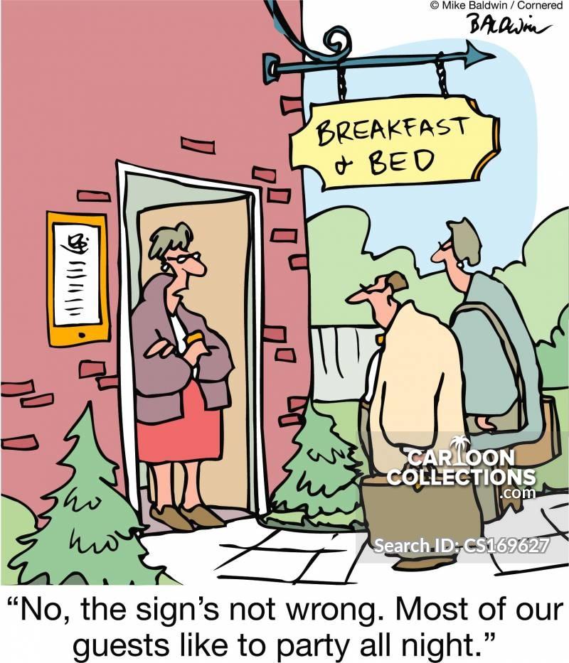 guest houses cartoon