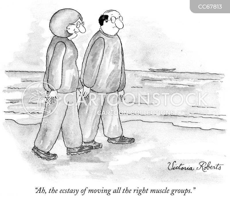 romantic walk cartoon