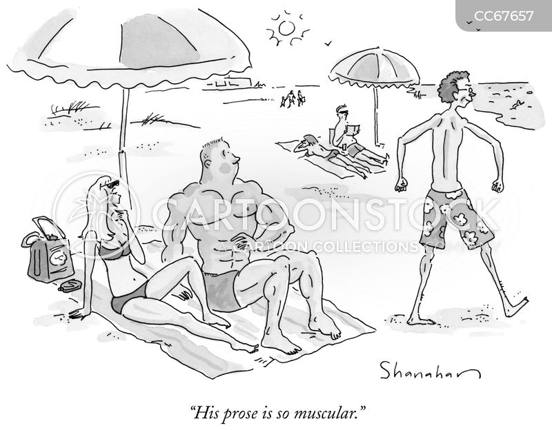 muscular cartoon