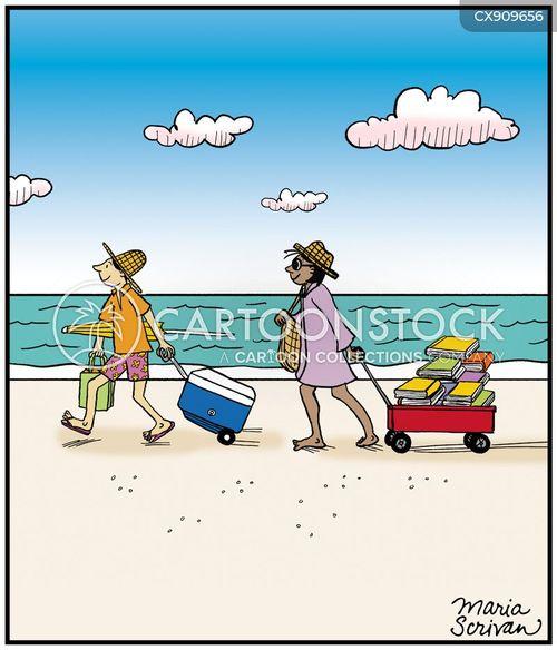 beach-goer cartoon