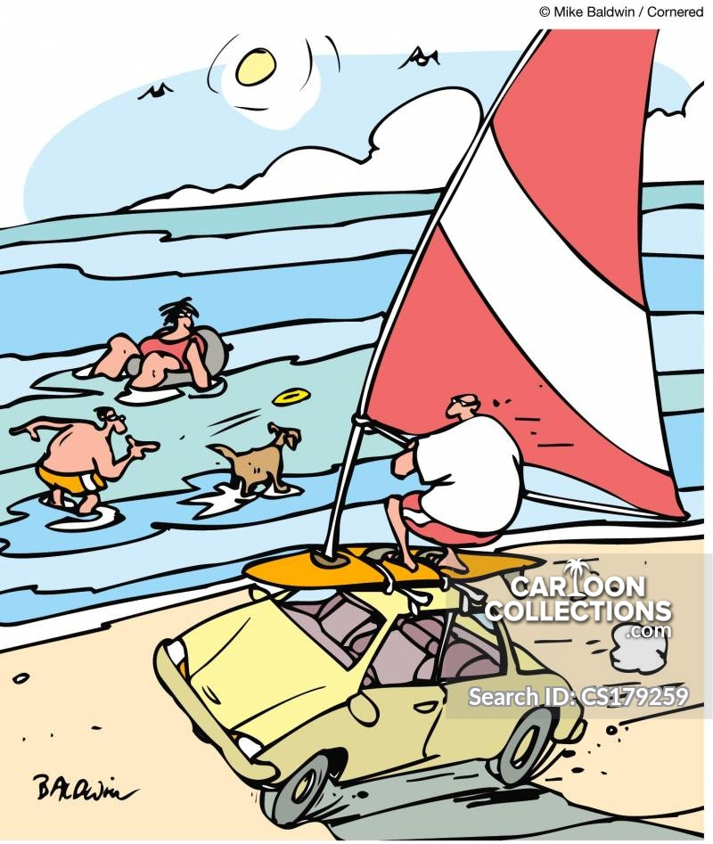 Wind-powered Car cartoon
