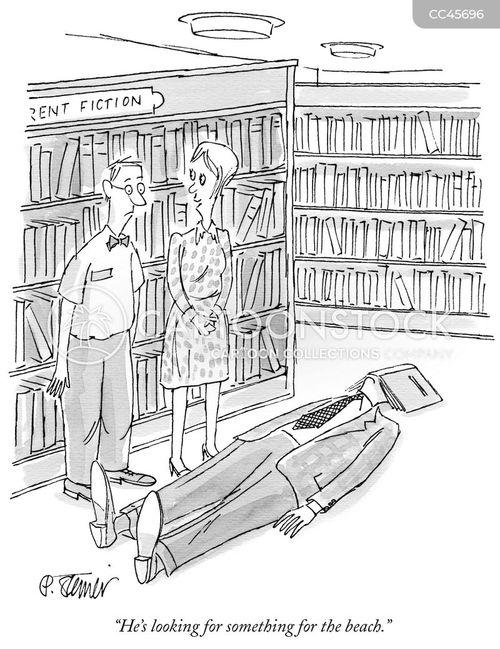 vacation reads cartoon