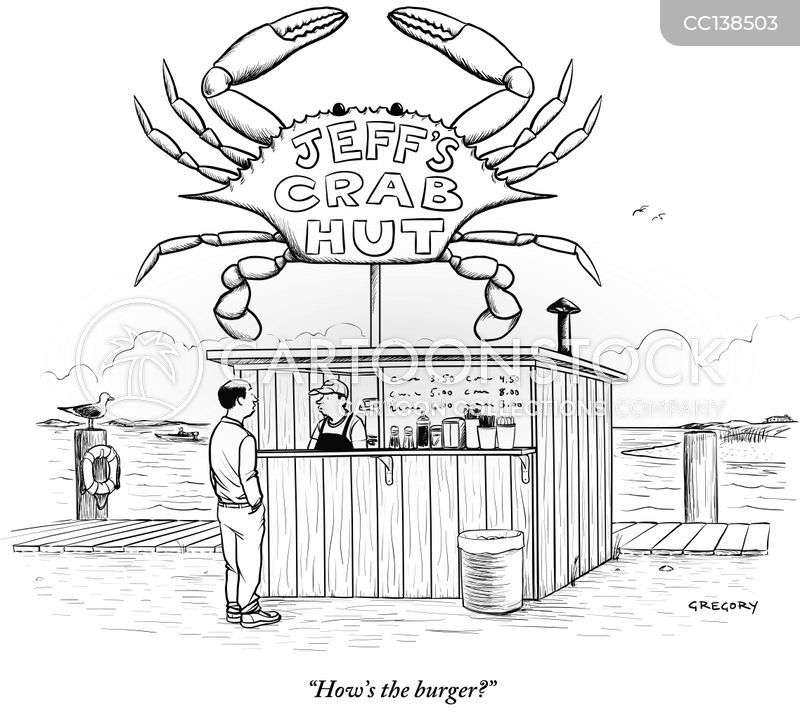 food hut cartoon