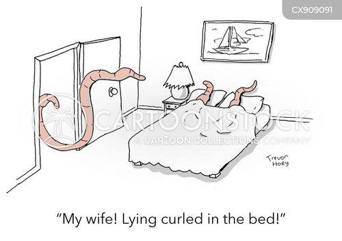 curl cartoon