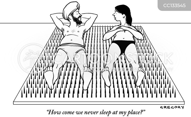 Bed Of Nails Cartoons and Comics , funny pictures from