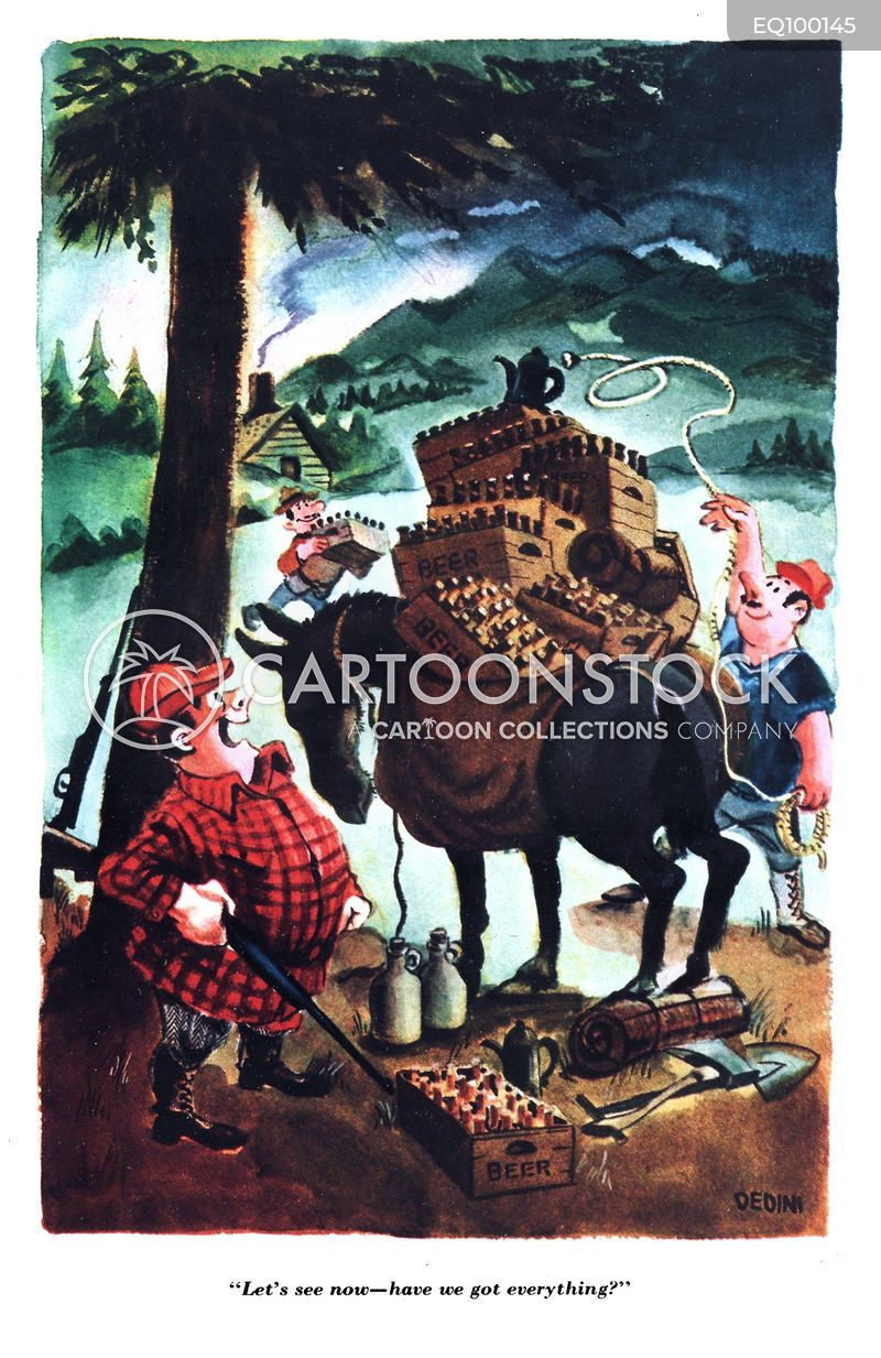 Woodsmen cartoon