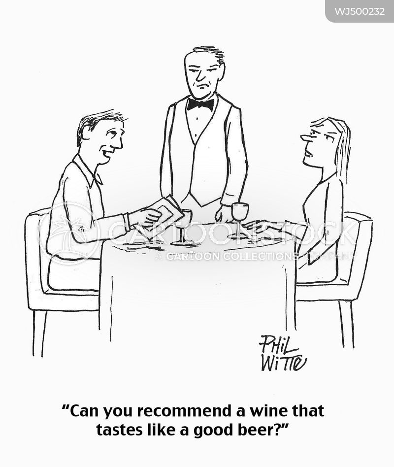 Wine Recommendations cartoon