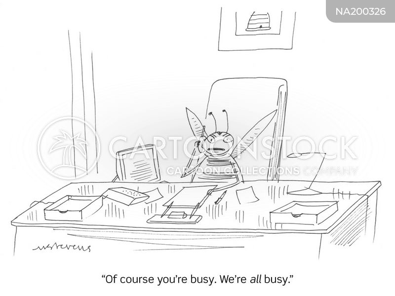 hectic lifestyle cartoon