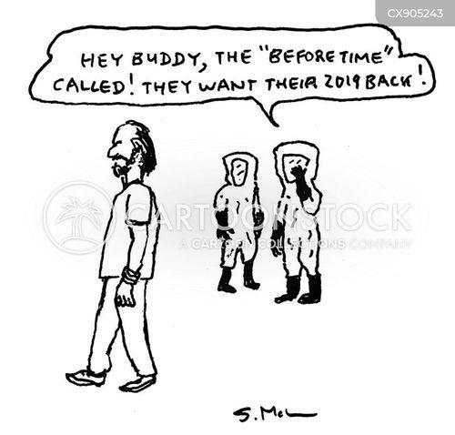 hazmat suits cartoon