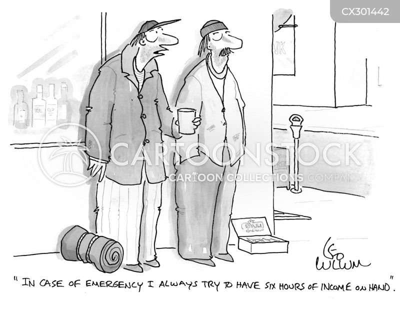 saving money cartoon