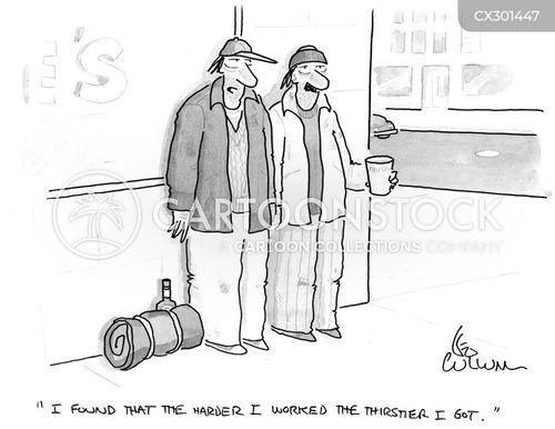 thirsty cartoon