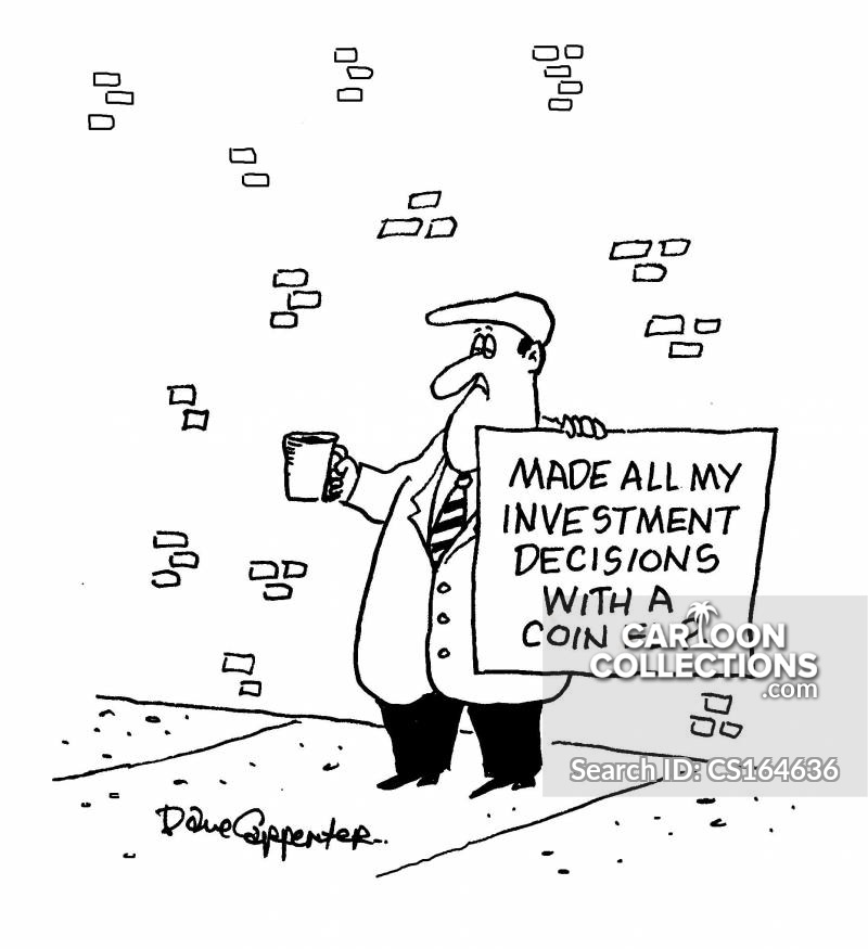 investment decision cartoon