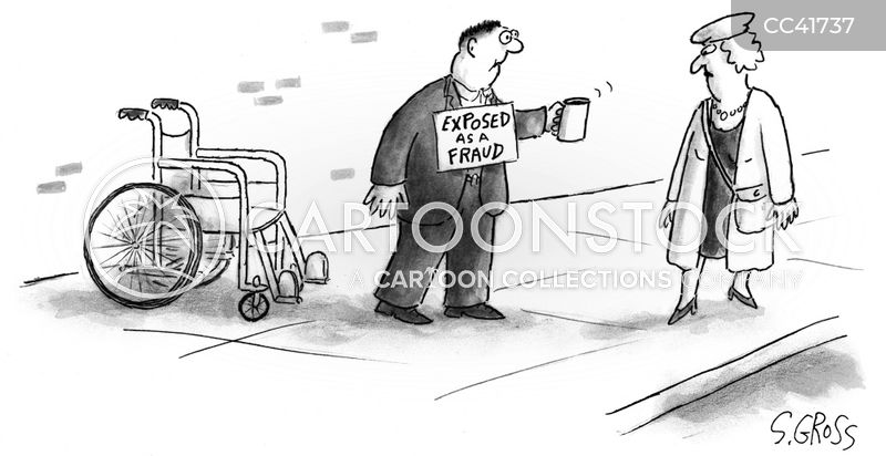 fraud cartoon