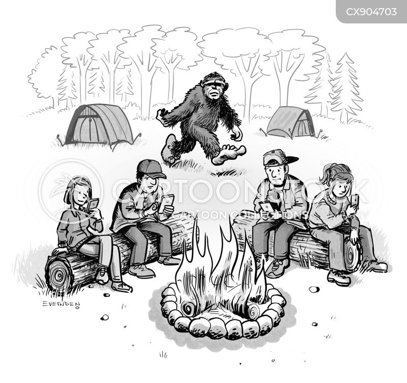 camp fires cartoon