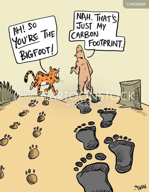 carbon footprints cartoon