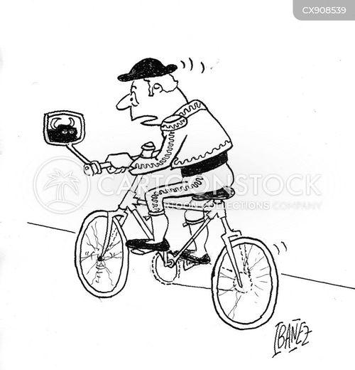 cycling cartoon
