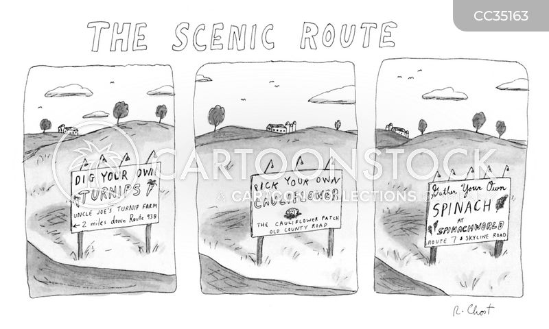 scenic cartoon