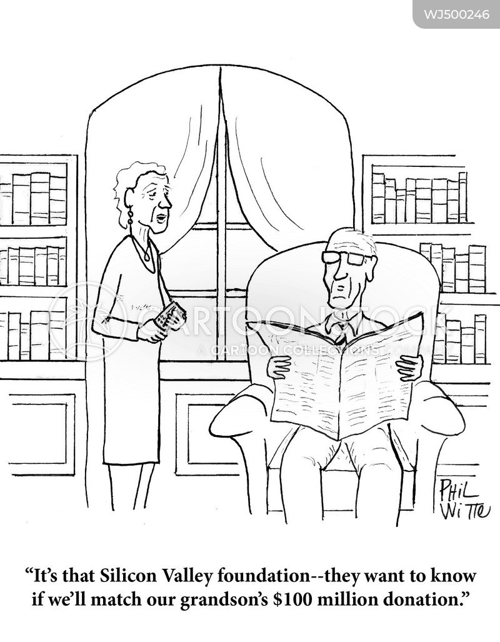 charitable donations cartoon