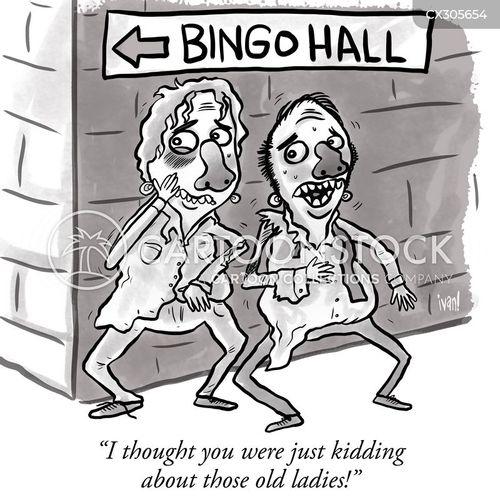 bingo hall cartoon