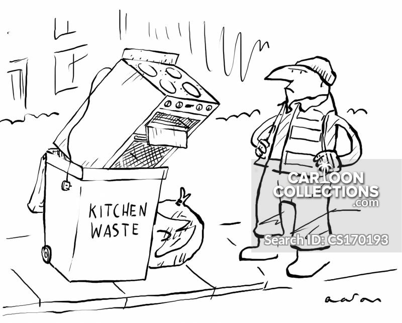 Kitchen Bin cartoon