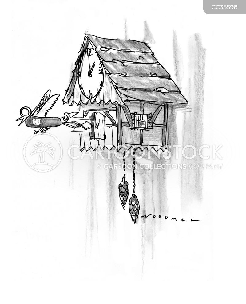 cuckoo clock cartoon
