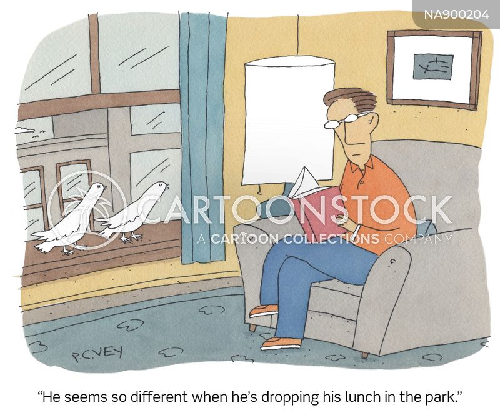focused cartoon