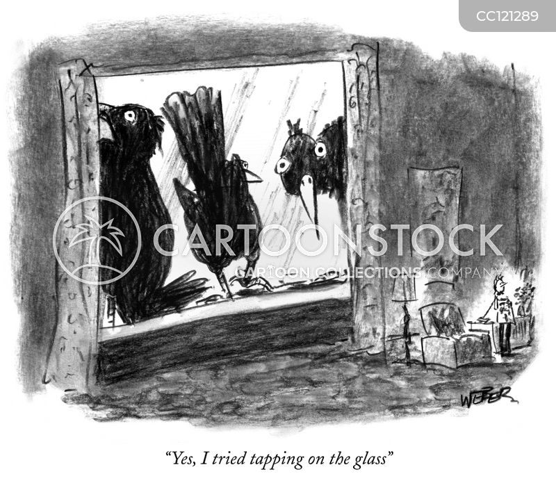 tapping cartoon
