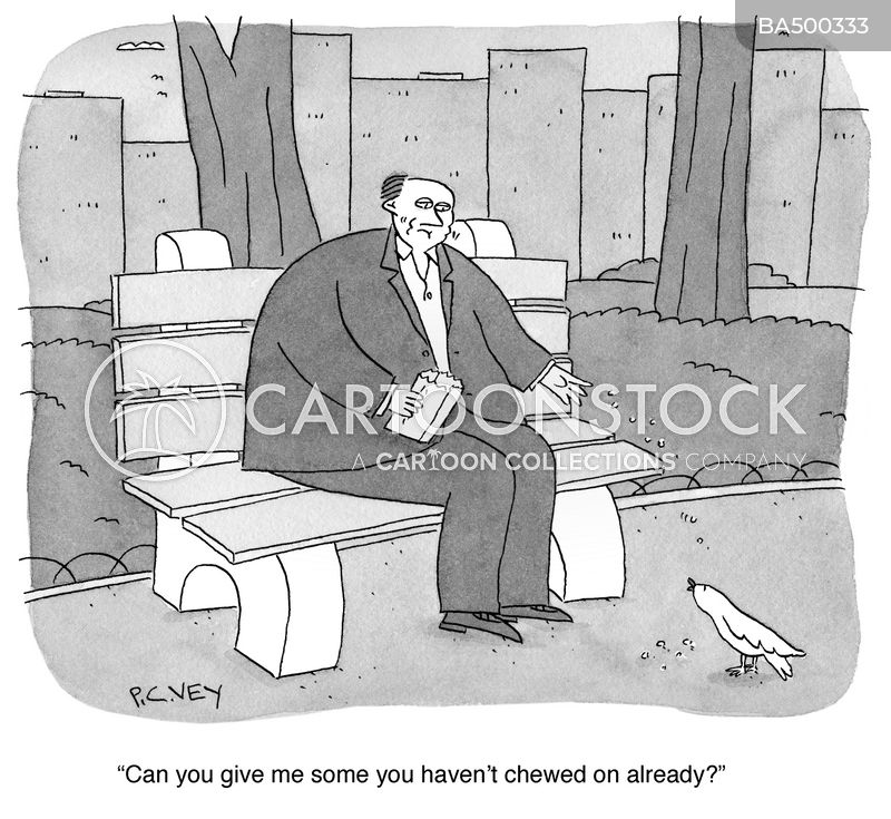 Benches cartoon