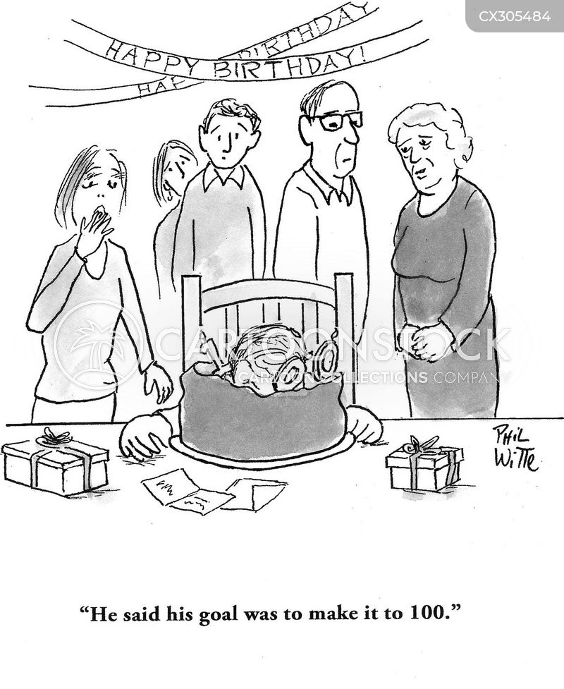 centenarian cartoon