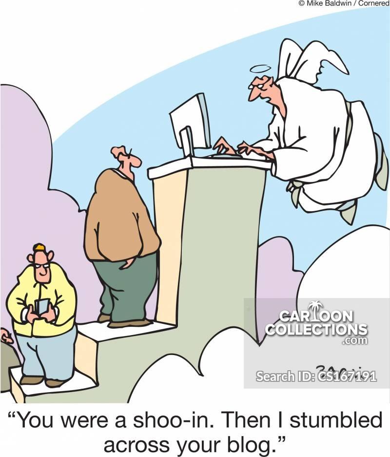 risky posting cartoon
